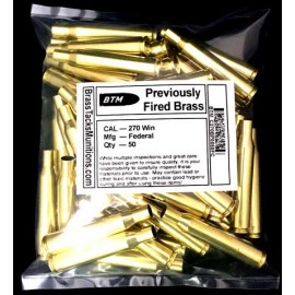 270 Winchester Cases to Reload with Federal headstamps