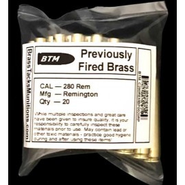 280 Rem Brass Cases to Reload - 20 ct