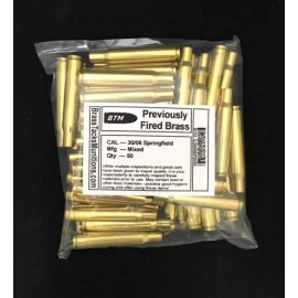 30/06 Springfield Brass Cases to Reload - 50 ct