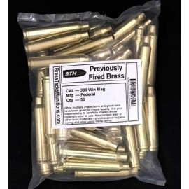 300 Win Mag brass rifle cases with Federal Head Stamps to Reload - 50 ct