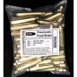 300 Win Mag brass rifle cases with Winchester Head Stamps to Reload - 50 ct