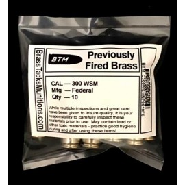 300 WSM Nickel Plated Cartridges to Reload - 10 ct