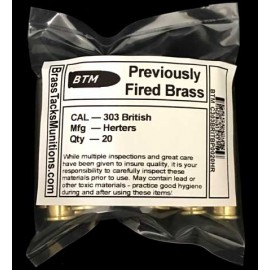 303 British Brass Cartridges to Reload - 20 ct