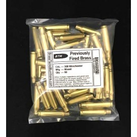 308 Winchester Brass Cases to Reload - 50 ct