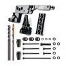 Complete jig set to secure an 80% AR-15 lower to a Ghost Gunner CNC mill